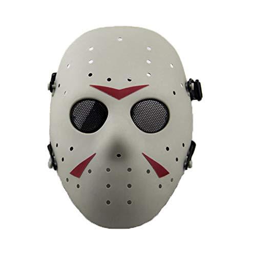 SGOYH Taktisch CS Games Airsoft Paintball Schutz Jason Metall Mesh Masken Volles Gesicht Schutzmaske für Cosplay Kostüm Party Halloween (FG) - Krieg Maske Für Erwachsene