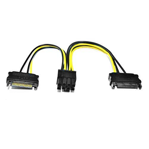 s 15Pin SATA zu 8Pin PCI-E Express Grafik Video Display Karte Netzteil Verlängerungskabel ()