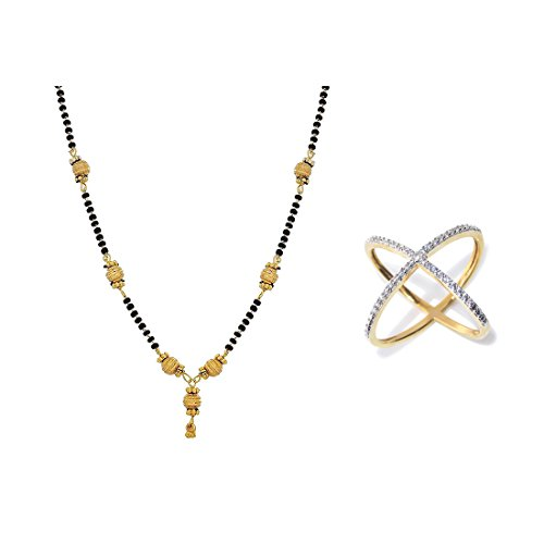 Zeneme AKSHAYA TRITIYA Speical Gift Collection of Fashionable American Diamond Mangalsutra & Rings Jewellery For Women  available at amazon for Rs.99