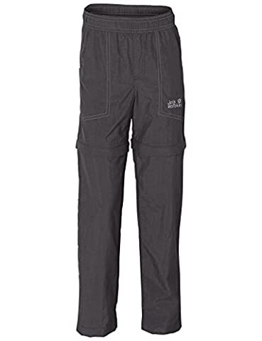 Jack Wolfskin Kinder Hose Desert Zip Off Pants, Dark Steel, 140, 1604991-6032140