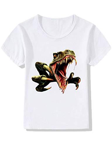 YZHEN Jungen/Mädchen Dinosaurier kurzen Ärmeln T-Shirts Kind Cartoon T-Shirt Baby Baumwolle Tops
