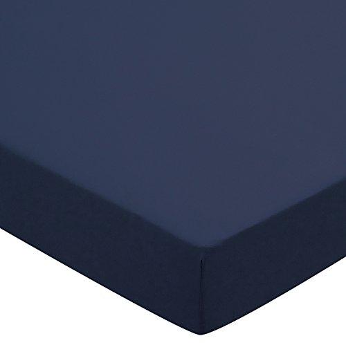 Helena Springfield Plain Dye percalle 50/lenzuolo con angoli, matrimoniale, Blu