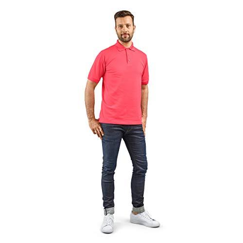 agon - Premium Herren Pique Polo-Shirt, bügelfrei, Coolmax, Coldblack, UV-Schutz, Geruchsblocker, atmungsaktiv, Kurzarm Paradise Pink 54/XL -
