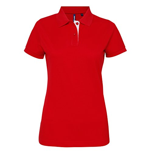 Asquith Fox -  Polo  - Donna Red/White