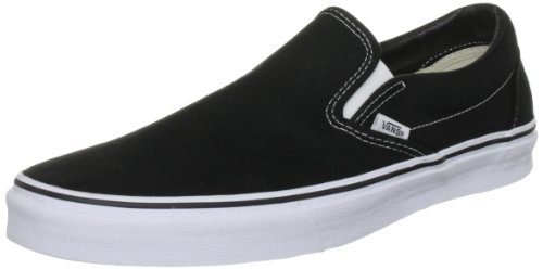 Vans U CLASSIC SLIP-ON, Sneaker Unisex Adulto, Nero (Black), 41