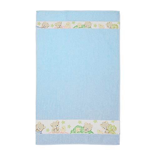Feiler Handtuch Bärenmotiv Ben & Fine Border 50/80cm blau Baumwolle