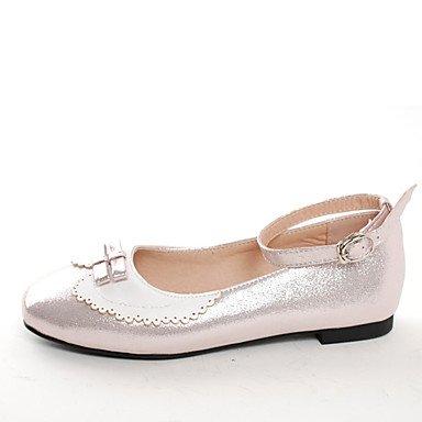 LvYuan Da donna-Sandali-Matrimonio Formale Serata e festa-Suole leggere-Piatto-Finta pelle-Blu chiaro Rosa chiaro light pink