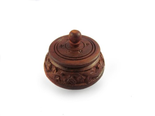 Pindia Small Wooden Full Carved Shingaar Box