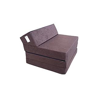 Natalia Spzoo Matelas lit Fauteuil futon Pliable Pliant Choix des Couleurs - Longueur 200 cm (30943-Marron)