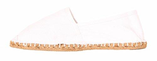 Espadrilles Sommerlatschen, weiß, vollgummiert_NEU, Unisex, SL1403 Weiß (Weiß)