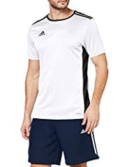 Idea Regalo - adidas Entrada 18 Jersey, Maglietta Uomo, Bianco, XL