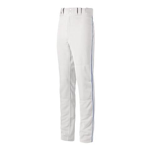 Mizuno Youth Select Pro Piped G2 Pants, White/Royal, Medium