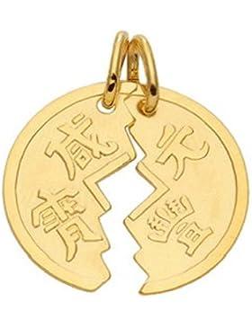 Gold 14 k ( 585 ) Motiv - Anhänger - Partneranhänger - B. 20,7 mm - H. 18,2 mm