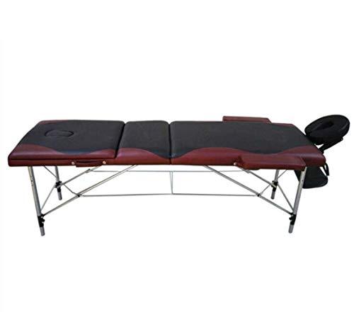 LFNIU Deluxe Leichte Massageliege Couch Schönheitsbett 3-teiliges Aluminium-Therapiebett Spa-Bett Tragbares Klappbett -