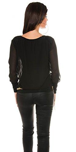 In-Stylefashion - Débardeur - Femme Beige Beige Noir - Noir