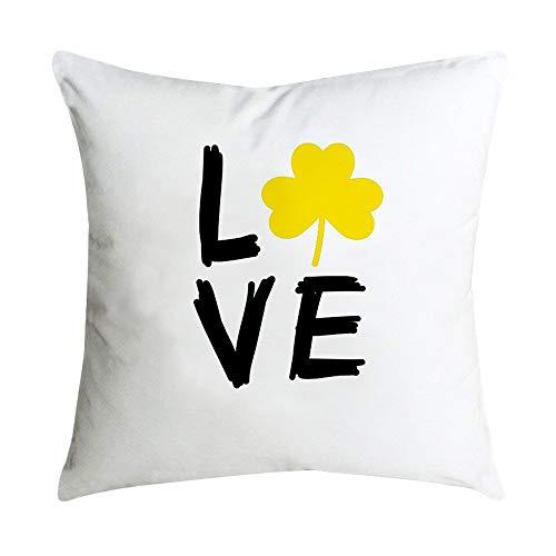 Auied Ananasblatt Gelb Quadratisch Weich FabricPillow Fall Sofa Auto Taille Werfen Kissenbezug Home Decor