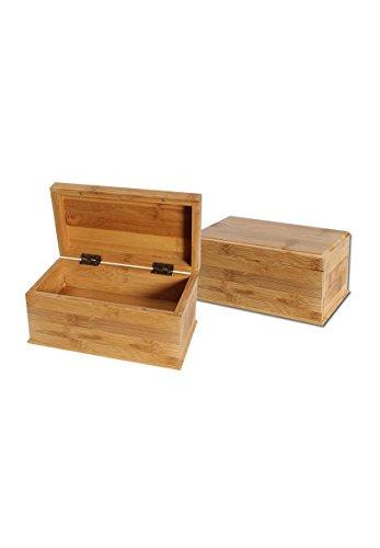 Doppelter Boden (Aufbewahrungsbox mit doppelten Boden aus Bambus 222x125x100mm - PatchouliWorld)