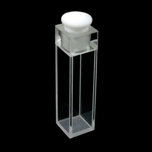 Standard 10mm Fluoreszenz Quarz KÜVETTE mit PTFE Stopper