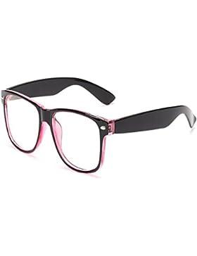 Inlefen Filtro de Blu-ray Gafas de computadora Gafas anti UV Gafas transparentes vintage de moda