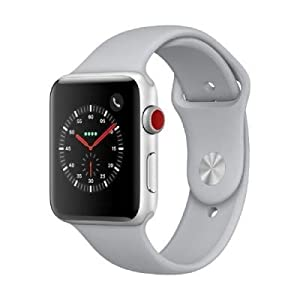 Apple Watch Series 3 LTE /4G 42mm aluminiocaja plata con Sportbracelet Nebel