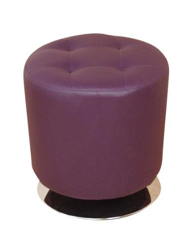 Heinz Hofmann 4442.CPL Lounge-Sitzhocker  Kunstleder  Lila  Höhe 45 cm, Durchmesser 43 cm