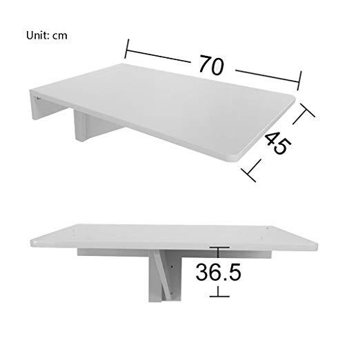 Afayu Afanyu Klapp-Esstisch aus Holz Drop Leaf Table Rechteckiger Wand-Computertisch, 70 cm * 45 cm,Holzfarbe - Klapp-esstisch