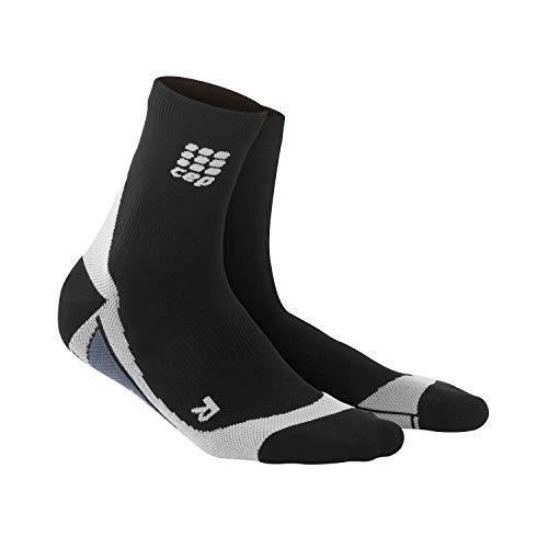 CEP - Short Socks 2.0 für Damen | Kurze Laufsocken mit Kompression in schwarz/grau | Größe II -