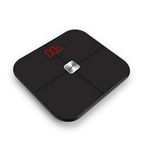 OPPP Báscula electrónica baño Escala Digital de Peso Inteligente de Alta precisión para baño Escala de Peso Bluetooth Escala de Grasa Corporal Cuerpo Humano Escala electrónica Ultrafino analizador, B