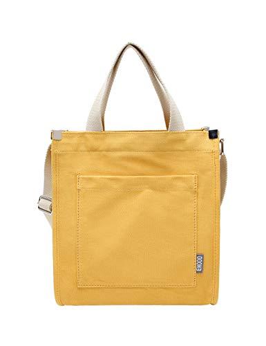 as Tote Handtaschen Geldbörse Umhängetasche Casual Crossbody Large Work School Shopper Handtasche (Gelb) ()
