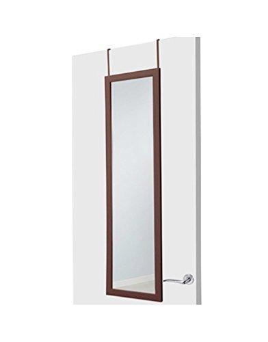 Hogar y Mas Espejo de Puerta marrón de plástico Moderno para Dormitorio de 35 x 125 cm Life-Time