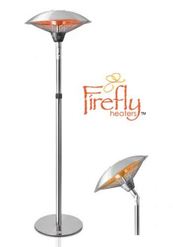 Firefly 2.1kW Tilting Freestanding Electric Outdoor Patio Heater with Gold Tube Heating Element