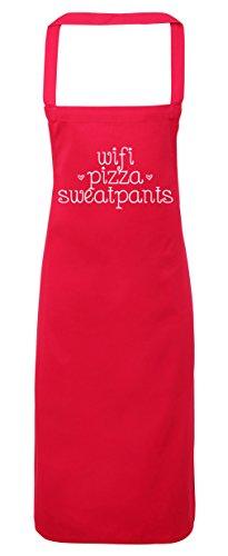 hippowarehouse WiFi Pizza Sweatpants Schürze Küche Kochen Malerei DIY Einheitsgröße Erwachsene, fuchsia pink, Einheitsgröße (Erwachsene Sweatpant)