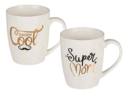 OOTB Kaffeebecher Set, Super Mom & Daddy Cool