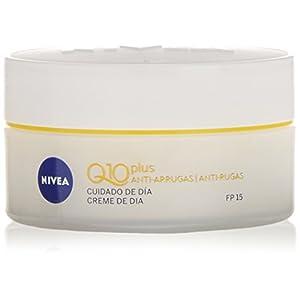 NIVEA Q10 Power Antiarrugas Cuidado de Día FP15 (1 x 50 ml), crema antiarrugas facial, crema hidratante con protector…