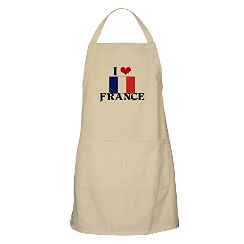 CafePress I Heart Frankreich Flagge Schürze Grillschürze Khaki -
