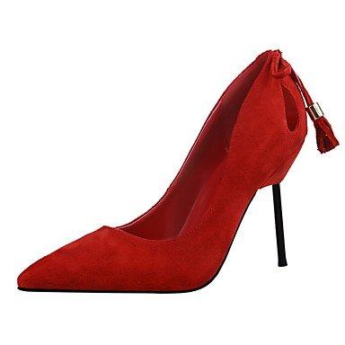 Moda Donna Sandali Sexy donna tacchi Primavera / Estate / Autunno vello piattaforma Party & Sera / Casual Stiletto Heel nero / rosso / grigio chiaro / mandorla / Burgundy / kaki Orange