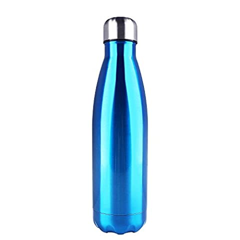 Water Bottle for Men Women 17oz Double Wall Vacuum Insulation Stainless Steel Water Bottle Cup Keep Hot Cool Leak- proof Perfect for Outdoor Sports Camping Hiking Cycling