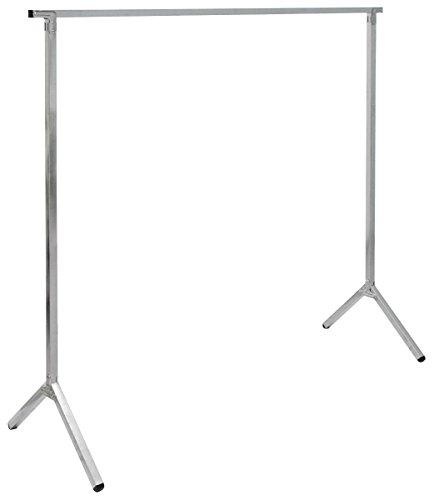 Eyepower klappbarer Kleiderständer Kleiderstange Standgarderobe Garderobenständer Wäscheständer 150cm lang Mehrzweckstand 100{644d40e4903172a97090f03b47b6a056334bea373945255fbb19083c561fb6fd} Metall Silber
