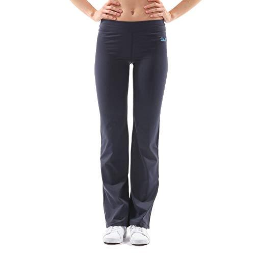 Sportkind Mädchen & Damen Sport, Fitness, Yoga Jazzpants extra lang (+3cm), Navy blau, Gr. XL