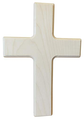 Kaltner Präsente Geschenkidee - Ahorn Holz Kreuz Kruzifix Wandkreuz 30 cm