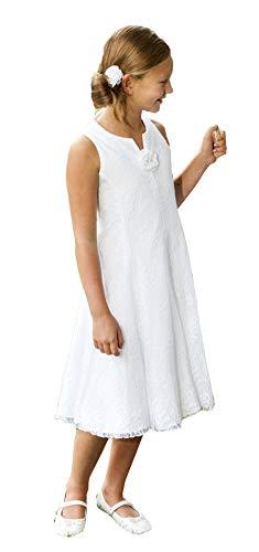 Monny Kommunionkleid, Kommunionskleid, Erstkommunion, Kleid in 3/4 Länge, aus edelster Spitze,weiß, Gr. 152
