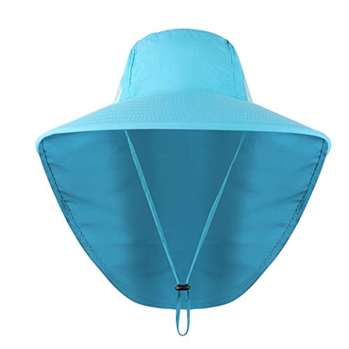 JOYOTER Unisex Wide Brim Sonnenschutz Angeln Cap Faltbare Mesh Schweißband Neck Cover Bucket Boonie Hut für Outdoor-Sport