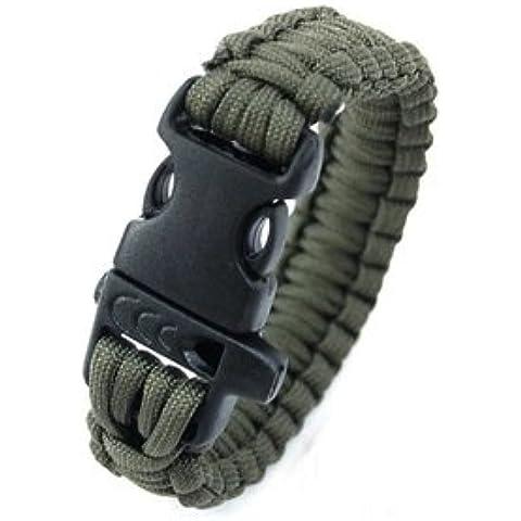 Nuevo de alta calidad cuerda cuerda de escape supervivencia al aire libre para sobrevivir pulsera de cordón ejército para llevar una pulsera