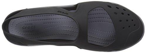 Crocs Swiftwater Wave, Sabots femme Noir (Black)