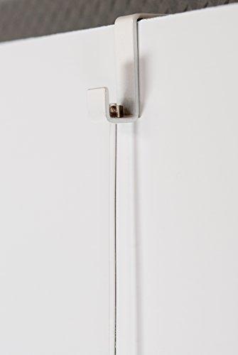 Art & More Stellwandhaken 21mm mit Lochbohrung, Komplett-Set mit Perlonseil 1,5m und Bilderhaken bis 4kg, Trennwandhaken, Bilderhaken, Haken für 21mm breite Stellwände, Aufhänger für Trennwände -