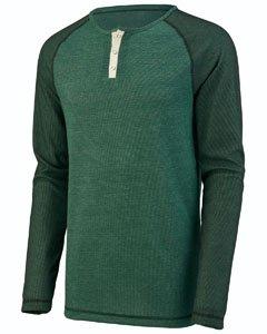 Augusta Sportswear Men'S Linear Fusion Long Sleeve Henley M Dark Green/Black ... Augusta Sportswear Henley