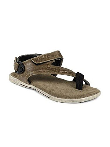 Woodland Men's Khaki Leather Sandals and Floaters - 6 UK/India (40 EU)  available at amazon for Rs.1571