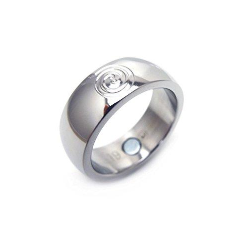 Feng Shui Energy Fortune Glücksring zur Förderung von Liebe und GLÜCK mit Neodym Magnet Energetix 4you Energiespirale Magnetring 1936-18