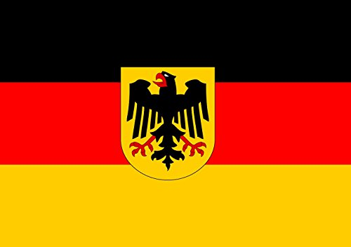magFlags Flagge: Small Deutschland | Querformat Fahne | 0.7m² | 70x100cm » Fahne 100% Made in Germany