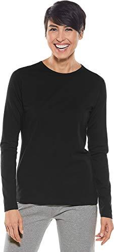 Coolibar Damen Uv-Schutzfaktor 50+ Langem Arm T-Shirt,01262-001/54, Schwarz, L - Stiftung Schwarzes T-shirt